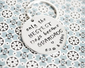FATHERS DAY Personalised Key RIng (Grandad)