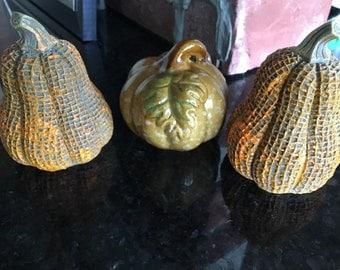Ceramic Fall Décor- Set of 3