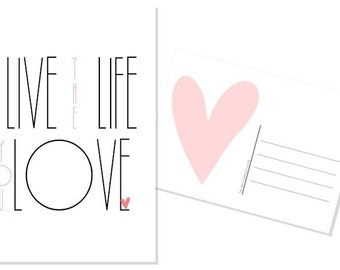 Live the life you love-postcard