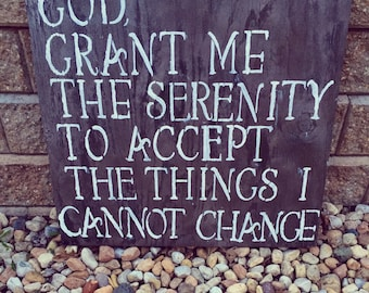Serenity Prayer Sign
