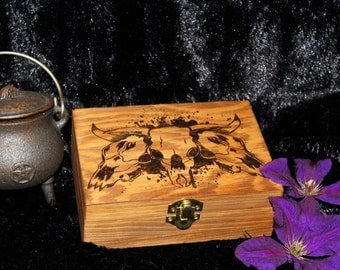 Cattle Skull Tarot Box