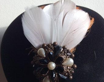 Feathers & Vintage - #2 Hairband