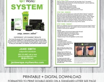 It works global new greens sample card 2x8 by for It works global business cards