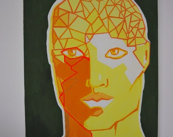Head in yellow and green