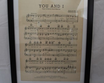 Vintage Framed Sheet Music