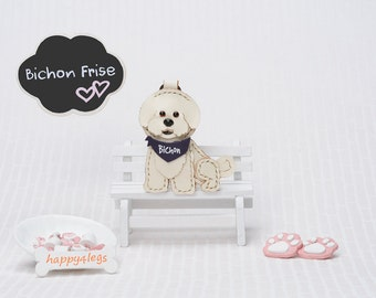 Bichon Frise Genuine Leather Bag Charm * Perfect Gift for Dog Lover *