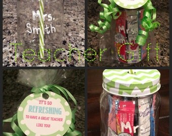 Teacher Gift/Drink Tumbler with Drink Packets/ Teacher Appreciation Gift/ End of the Year Gift for Teacher