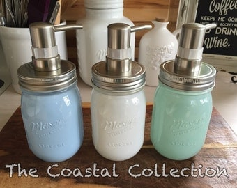 Mason jar soap dispensers, The Coastal Collection***Mason Jar*** soap dispensers!! 16oz, kitchen and bath soap dispenser