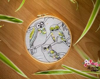 Embroidery - OWL Swedish - pastel