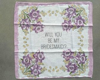 Vintage Bridesmaid Handkerchief
