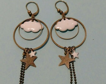 Earring small cumulus