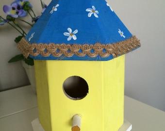 Decorative Wooden Birdhouse || wooden birdhouse || hand-painted ||