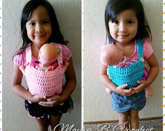 Crochet Baby Doll Carrier, Baby Doll Carrier, Crochet Stuffed Animal Carrier, Toddler Doll Carrier,  Pretend Baby Carrier, Toddler Carrier