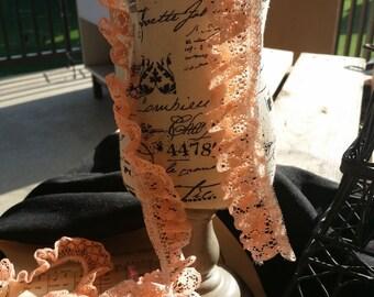1 inch peach lace trim