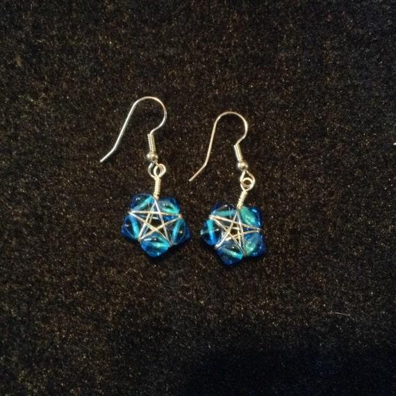 Bright Blue Star Earrings