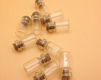 SELL 40pcs 12x24mm empty glass vials glass bottles mini glass bottles. glass vials with cork tiny bottle Ssmall glass Jar Small Cork.