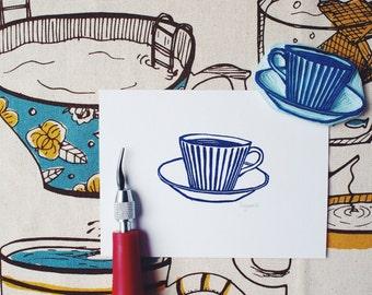 Morning Coffee - Original Handprint