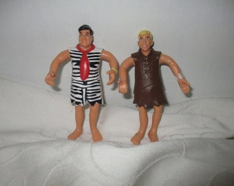 The Flintstones Movie - Bendy  Figures Fred Flintstone and  Barney Rubble
