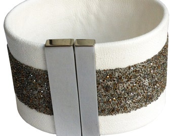 "Leather wristband ""candy rain"""