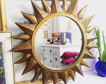 Vintage Sunburst Wall Mirror