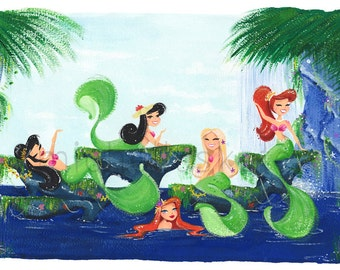 Mermaid Lagoon Fine Art Print Limited Edition