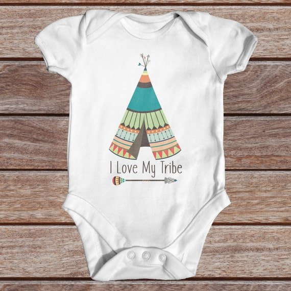 I Love My Tribe Bodysuit Cute Baby Clothes Tribal Baby