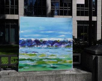 Modern painting 90x90cm / 35, 4 x 35, 4