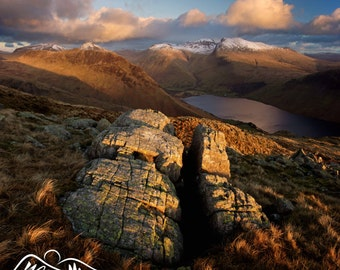 Scafell Pike from Middle Fell  --  Landscape Photography by M J Turner