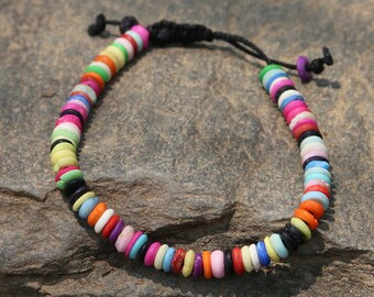 Multicolored Tibetan Beaded Bracelet - Nepal 018