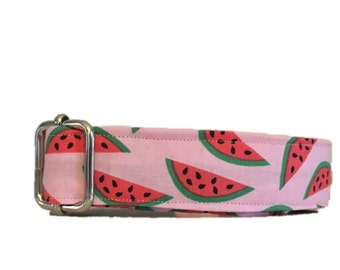 Watermelon buckle or martingale dog collar