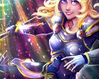 Lux League of Legends Print 11x17 anime video game style