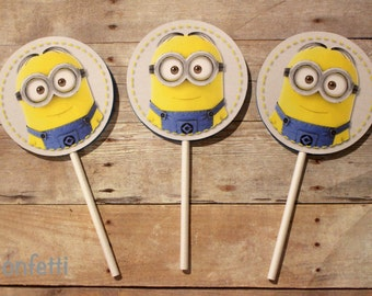 Minions Cupcake Toppers #1