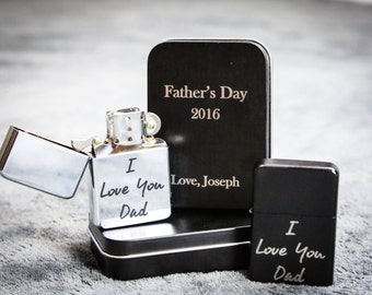 Birthday Gift for Dad  - I love you Dad - Personalized Gifts for Dad - Engraved Lighter - Gifts for Dad - Gifts for Him - Father's Day Gifts