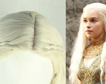 Game of Thrones Daenerys Targaryen Wig Long Blonde Wavy Fluffy Cosplay Wigs Masquerade Cosplay Full Wigs