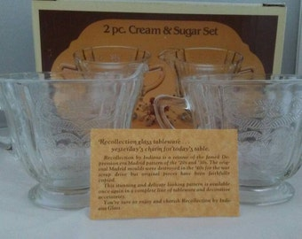 Recollections 2 pc. Indiana Glass Cream and Sugar set