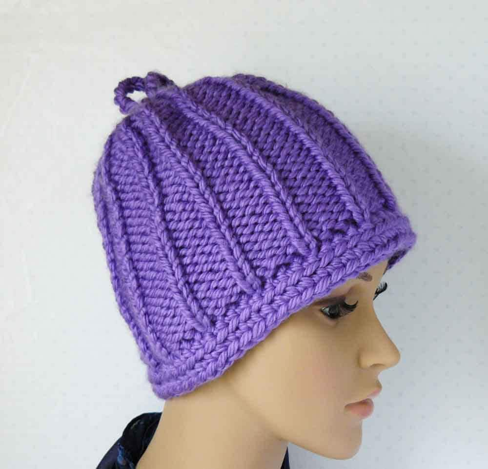 knitting pattern knit chunky beanie pattern womens knit hats