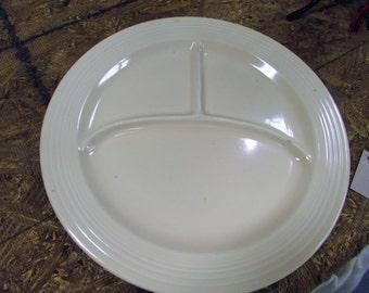 SALE   Vintage Fiestaware Divided Plate