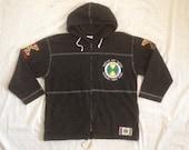 Vintage 90's Cross Colours Jacket Hooded Full Zipper  /Hiphop /Rap /Oldschool /Wu Tang /Run Dmc