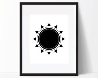 Boho Print, Tribal Print, Southwest Print, Southwest Art, Tribal Art, Aztec Print, Sun Print, Sun Art, Boho Printable, Tribal Digital Print