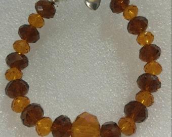Shades of Amber Beaded Bracelet