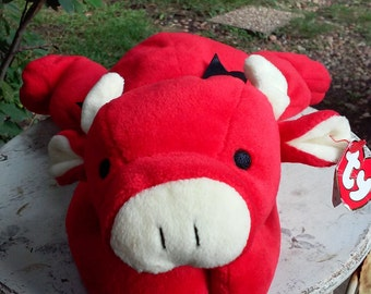 Vintage Ty Pillow Pal, Red the Bull-1997