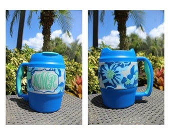 Lilly Pulitzer Inspired Painted Bubba Keg - 52 oz