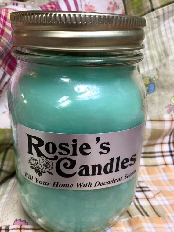 Homemade scented candles by rosiesscentedcandles on etsy for Scents for homemade candles