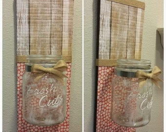 Pallet Wall Hanging with Jar