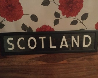 Scotland Framed Bus Coach Destination Blind