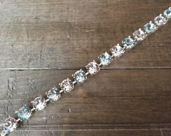 Cindy - crystal bracelet with clear & subtle blue stones