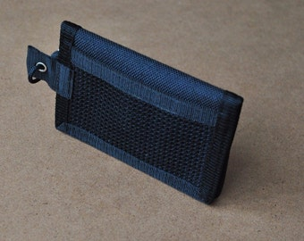 Slim tactical minimalist urban wallet original T-WALLET black, cordura fabric