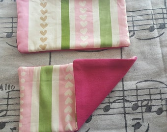Hearts and Stripes Strap Pads