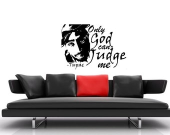 Tupac vinyl Wall Art sticker decal graphics decor home
