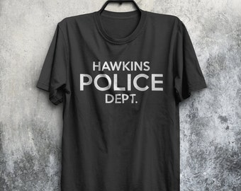 Stranger Things Inspired Hawkins Police Dept. Sherif TV Show Eleven Horror Adults Mens & Women's T-shirt Top Tee Shirt All Sizes And Colours